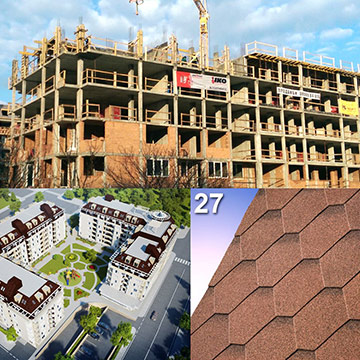Shingles Deliveries for the Construction of the Prestigious Residential Complex