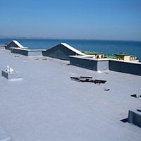 Покрив с полимерни хидроизолационни мембрани 105