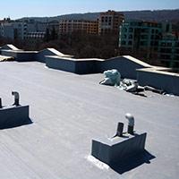 Покрив с полимерни хидроизолационни мембрани 103