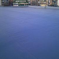 Покрив с полимерни хидроизолационни мембрани 102