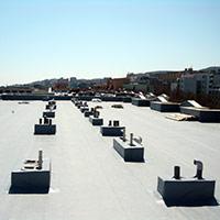 Покрив с полимерни хидроизолационни мембрани 100