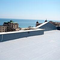 Покрив с полимерни хидроизолационни мембрани 91