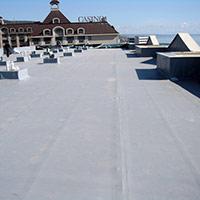Покрив с полимерни хидроизолационни мембрани 74
