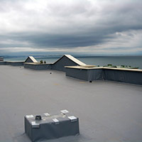 Покрив с полимерни хидроизолационни мембрани 72