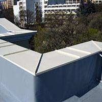 Покрив с полимерни хидроизолационни мембрани 63