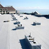 Покрив с полимерни хидроизолационни мембрани 60