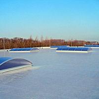 Покрив с полимерни хидроизолационни мембрани 58