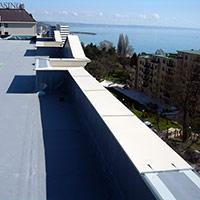 Покрив с полимерни хидроизолационни мембрани 55