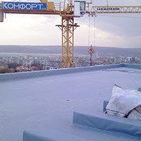 Покрив с полимерни хидроизолационни мембрани 51