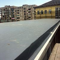 Покрив с полимерни хидроизолационни мембрани 45