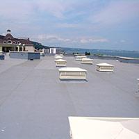 Покрив с полимерни хидроизолационни мембрани 35