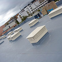 Покрив с полимерни хидроизолационни мембрани 33