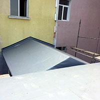 Покрив с полимерни хидроизолационни мембрани 32