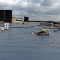 Покрив с полимерни хидроизолационни мембрани 25
