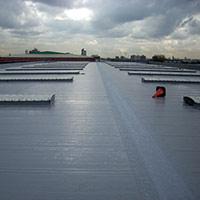 Покрив с полимерни хидроизолационни мембрани 22