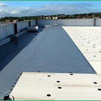 Покрив с полимерни хидроизолационни мембрани 15