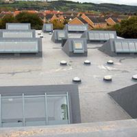 Покрив с полимерни хидроизолационни мембрани 10