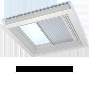 Плисирани щори VELUX за прозорци за плосък покрив