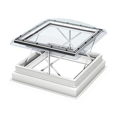 Димоотвеждаща система  за плосък покрив с купол