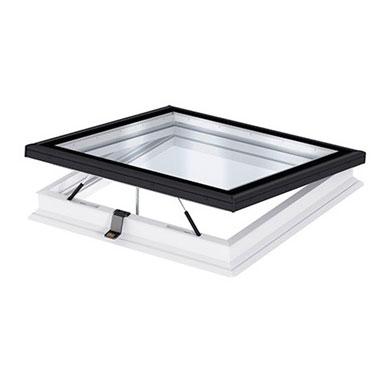 Прозорец за плосък покрив с плоско стъкло