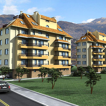 IKO roofs are again the preferred choice for the construction of a luxury apartment complex in Manastirski Livadi district of Sofia