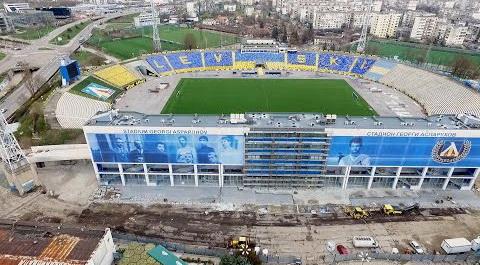 """Битумни керемиди на IKO със син цвят ще украсяват стадион """"Герена"""""""