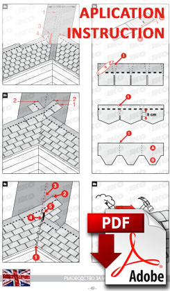 Изтегли инструкция за монтаж на битумни керемиди - английски език