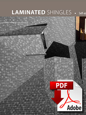 Laminated shingles brochure