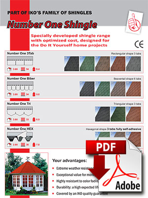 Number One shingles brochure