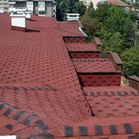 Покрив с битумни керемиди 518