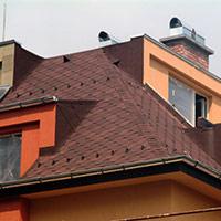 Покрив с битумни керемиди 495