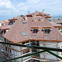 Покрив с битумни керемиди 382
