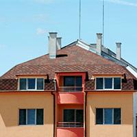 Покрив с битумни керемиди 374