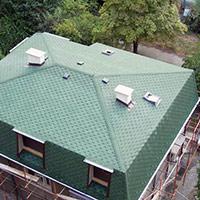 Покрив с битумни керемиди 323