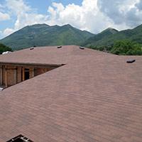 Покрив с битумни керемиди 44