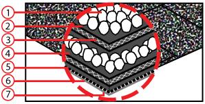 Структура на тялото на битумни керемиди Кембридж Експрес
