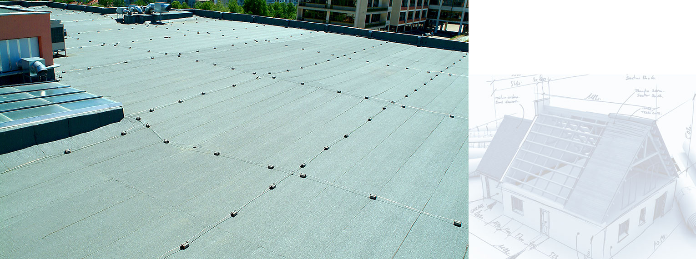 Bitumen waterproofing membranes on Southwest University Neofit Rilski