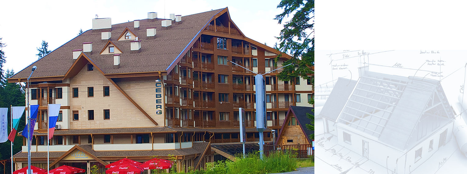 Laminated shingles Cambridge on Hotel Iceberg Borovets