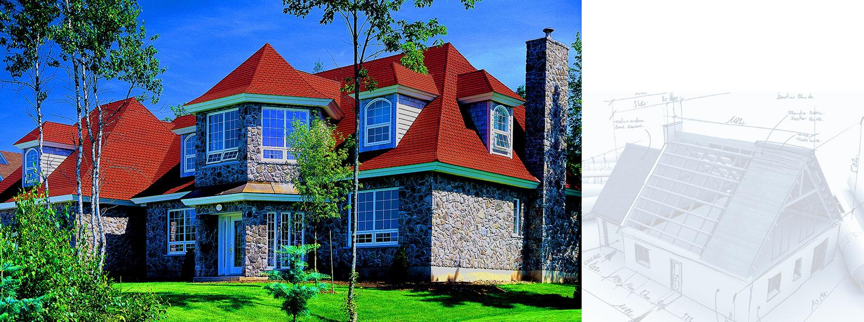 Premium fiberglass shingles Victorian on private residential building